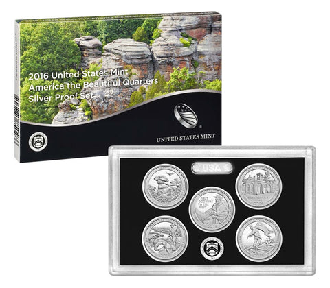2016 Silver America the Beautiful Quarter Proof Set