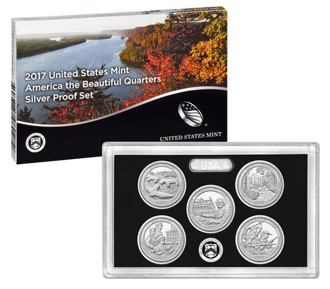 2017 Silver America the Beautiful Quarter Proof Set