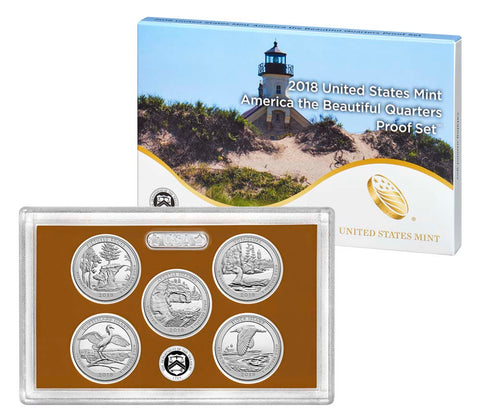 2018 America the Beautiful Quarter Proof Set
