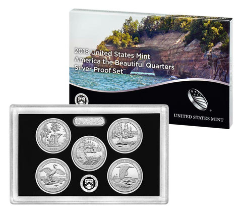2018 Silver America the Beautiful Quarter Proof Set