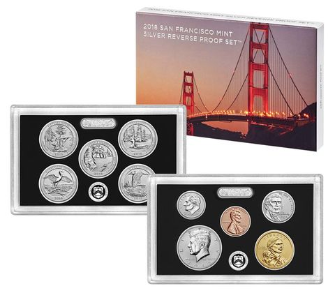 2018 US Mint Silver Reverse Proof Set