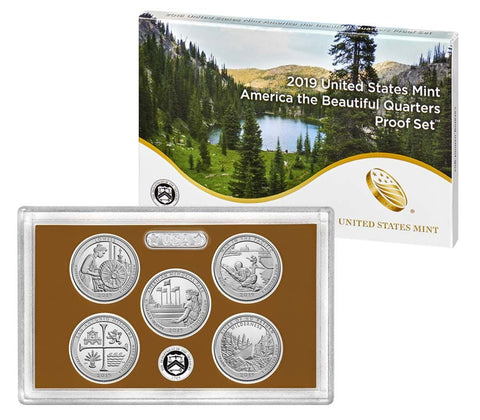 2019 America the Beautiful Quarter Proof Set