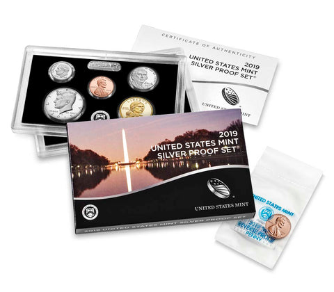 2019 US Mint Silver Proof Set (with Bonus 2019-W Reverse Proof Penny)