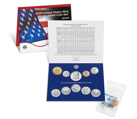 2019 US Mint Uncirculated Coin Set (with Bonus 2019-W Uncirculated Penny)