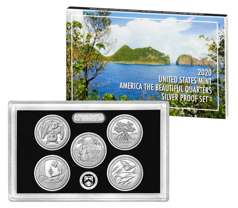 2020 Silver America the Beautiful Quarter Proof Set
