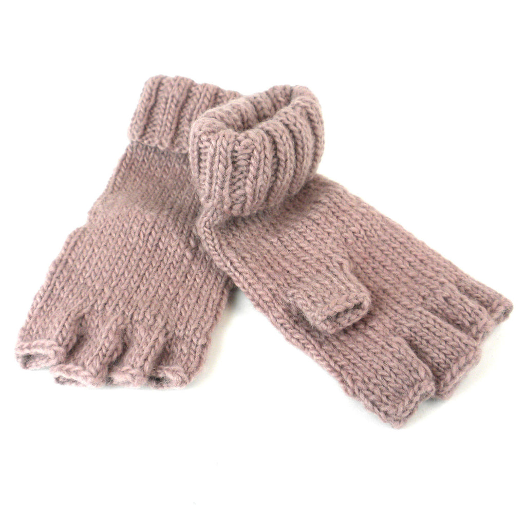 Marlow Fingerless Gloves - Blush - WorldFinds (W)