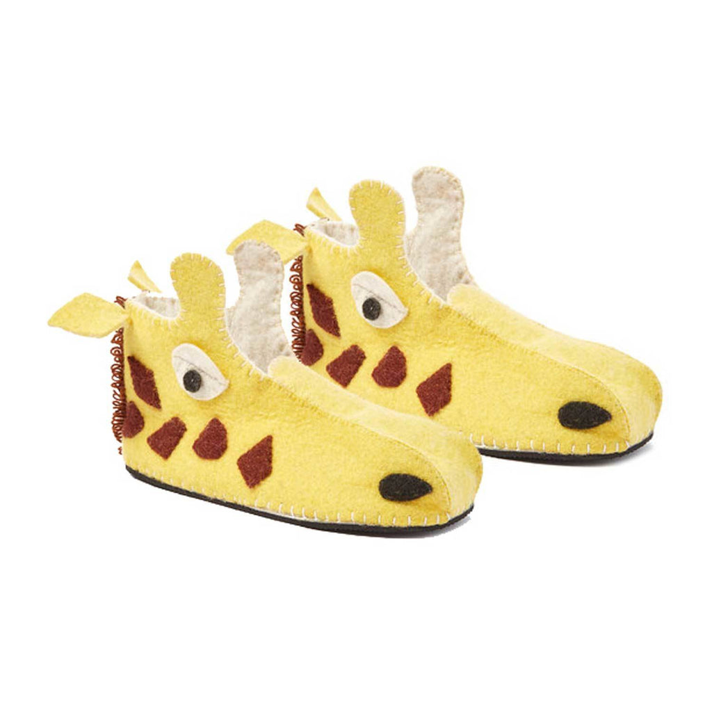 Giraffe Slippers Adult Medium - Silk Road Bazaar
