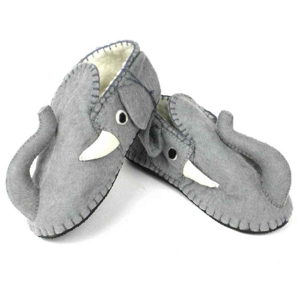 Elephant Slippers Adult Large - Silk Road Bazaar