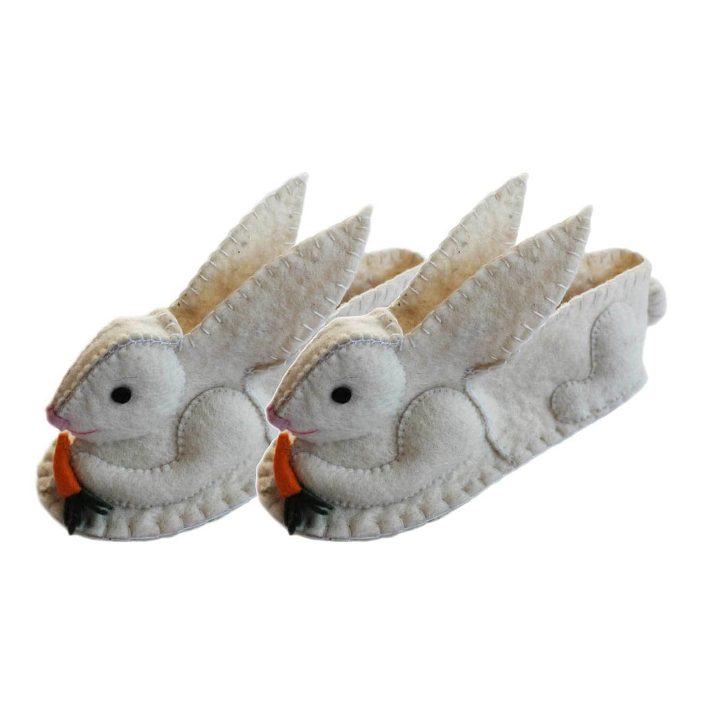 Rabbit Slippers Adult Medium - Silk Road Bazaar