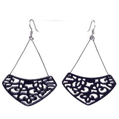 Simone Lace Earrings in Plum Handmade and Fair Trade
