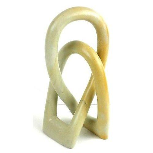 Natural Soapstone 8-inch Lover's Knot Handmade and Fair Trade