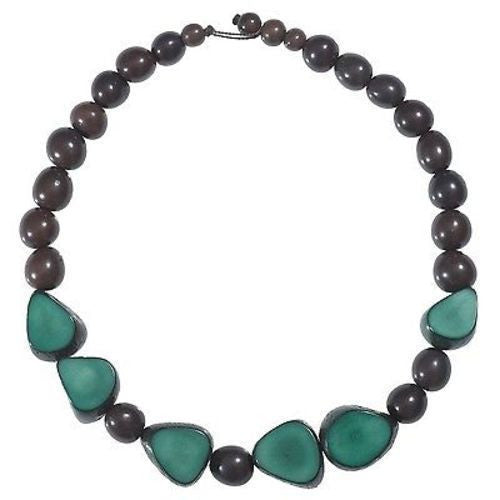 Gemma Tagua Necklace in Hunter Green Handmade and Fair Trade
