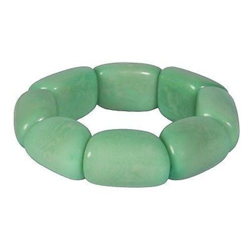 Riverbed Tagua Nut Bracelet in Sea Green Handmade and Fair Trade