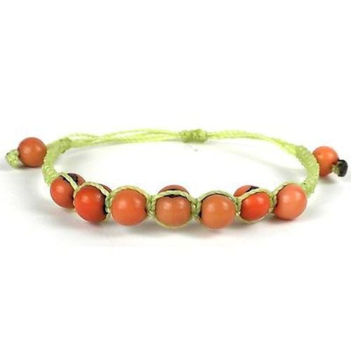 Costa Bracelet - Salmon Handmade and Fair Trade
