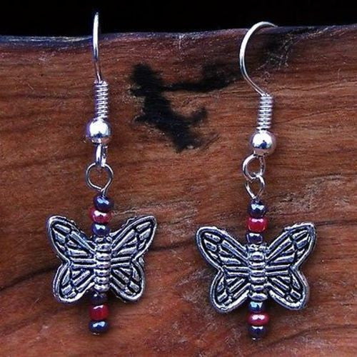 Playful Butterflies Earrings Handmade and Fair Trade