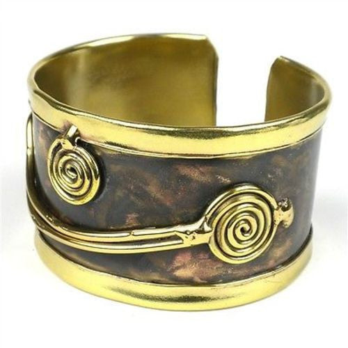 Brass Swirl Cuff Handmade and Fair Trade