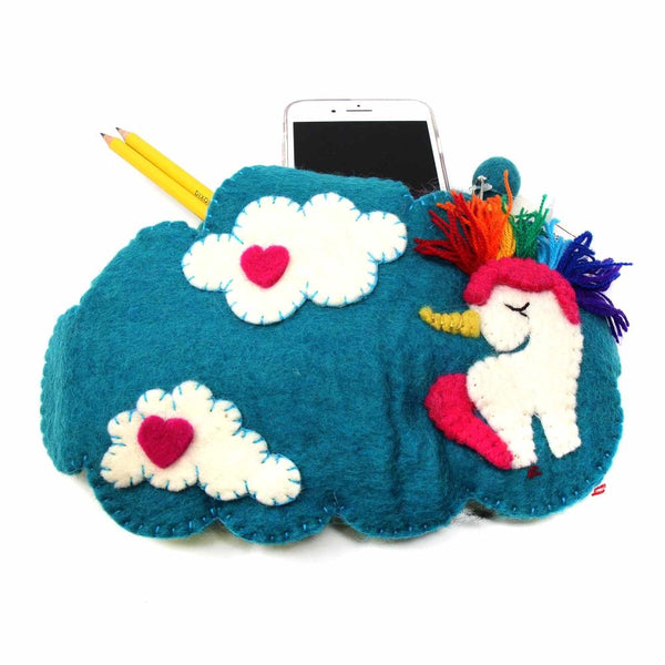 Felt Unicorn Shoulder Bag - Global Groove