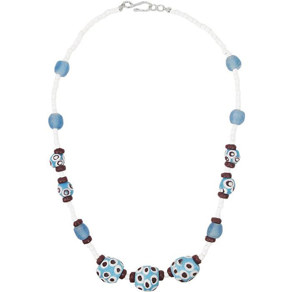 Grace Necklace in Blue - Global Mamas