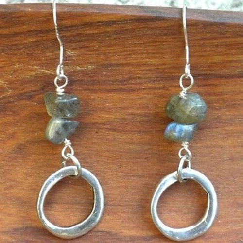 Peaceful Labradorite Earrings Handmade and Fair Trade