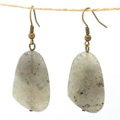 Labradorite Earrings Handmade and Fair Trade