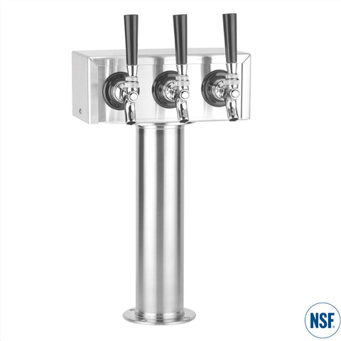 "Triple Faucet Stainless Steel ""T"" Tower"