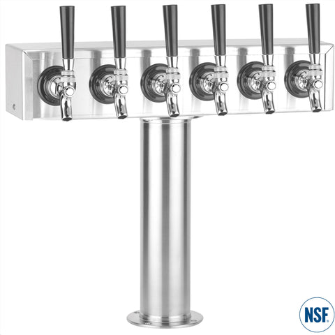 "Six Faucet Stainless Steel ""T"" Tower"