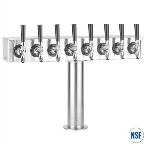 "Eight Faucet Stainless Steel ""T"" Tower"