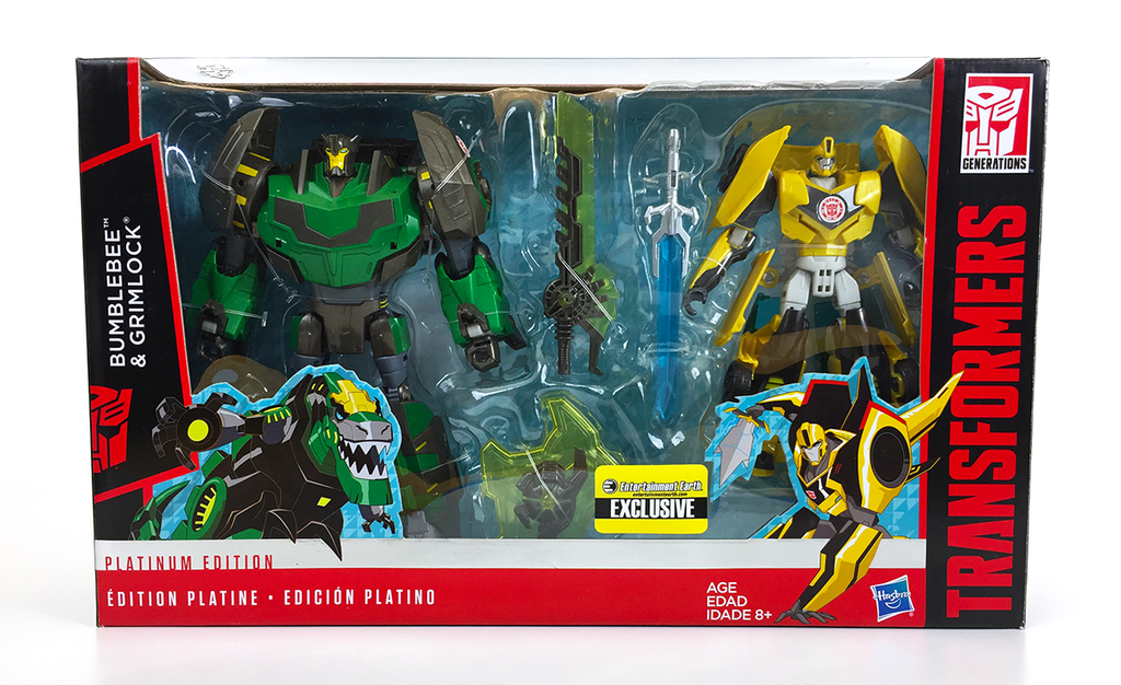 Transformers Platinum Edition Entertainment Earth Exclusive Bumble Bee & Grimlock