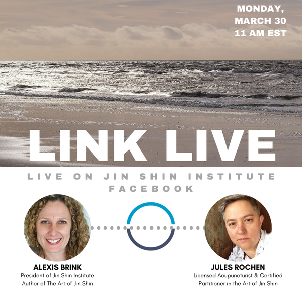 Link Live with Jules Rochon, Licensed Acupuncturist & Certified Practitioner in the Art of Jin Shin