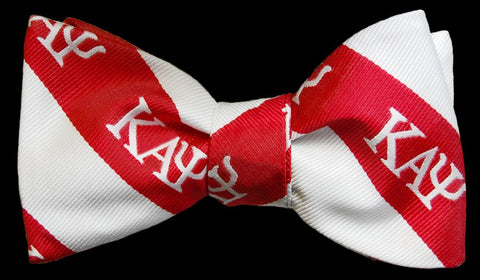 Kappa Alpha Psi (Red and White) Bow Tie and Handkerchief Set.