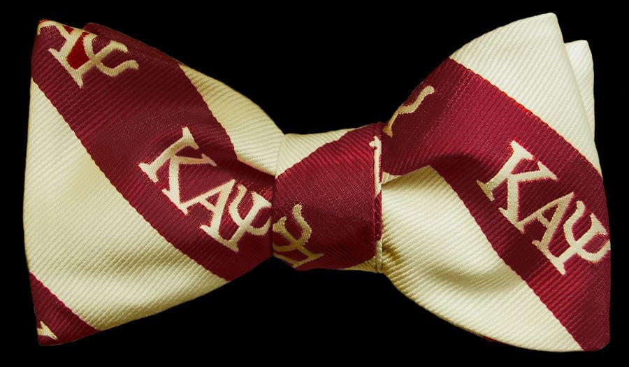 Kappa Alpha Psi (Crimson and Crème) Bow Tie and Handkerchief Set