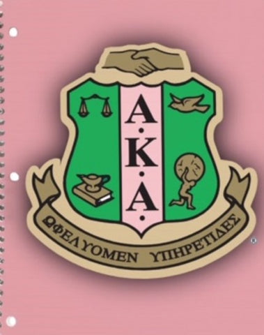 Alpha Kappa Alpha Spiral Notebook