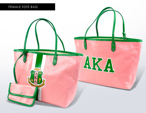Alpha Kappa Alpha Tote Bag with Wallet