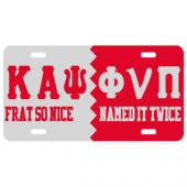 "Kappa Alpha Psi License Plate "" Name it Twice"""
