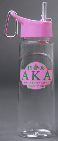 Clear Alpha Kappa Alpha Greek Water Bottle