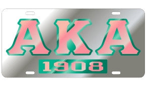 Alpha Kappa Alpha License Plate - 1908