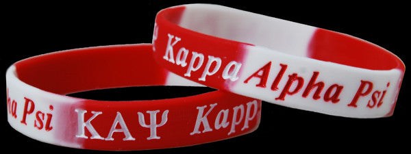 Kappa Alpha Psi Two Toned Silicone Wristbands