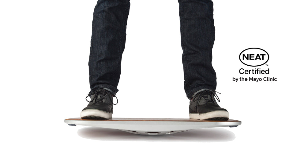 standing on a balance board