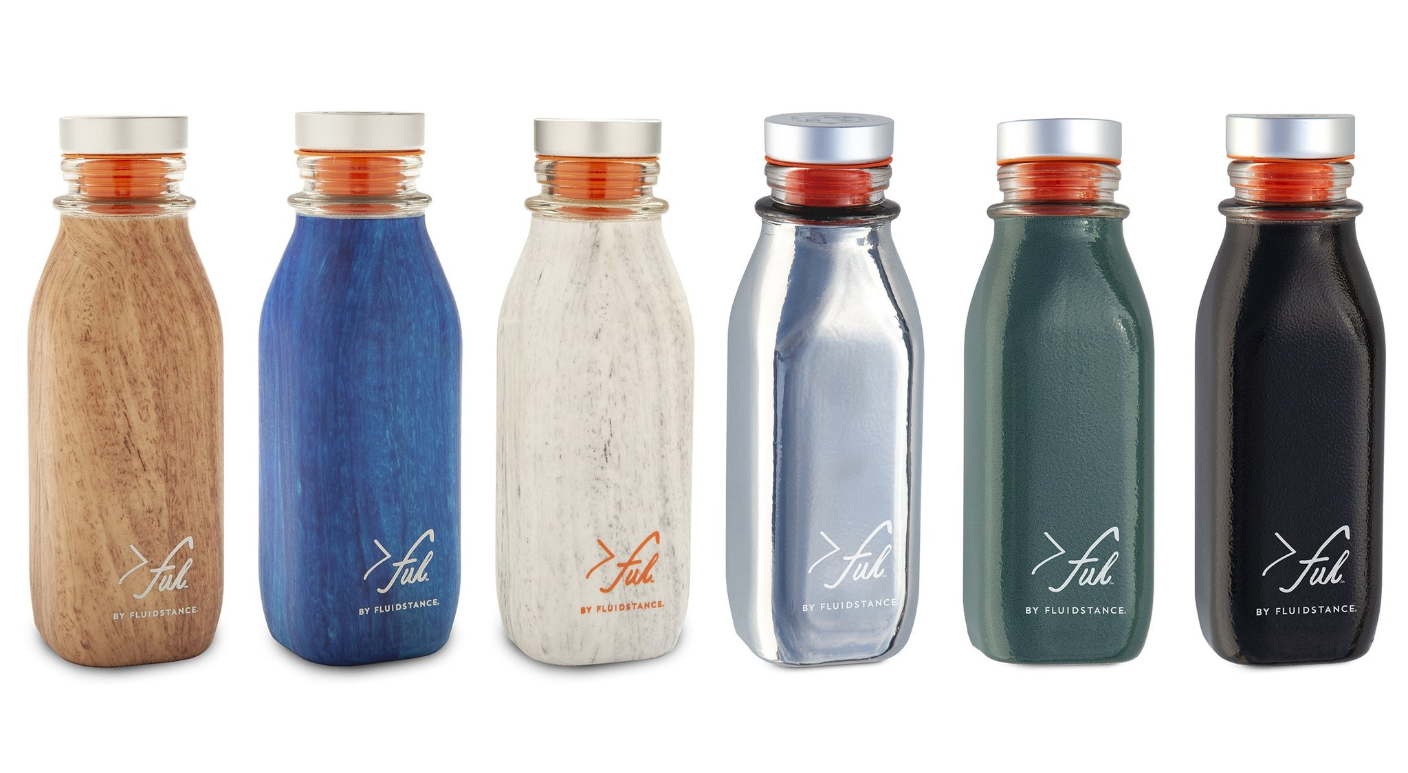 >ful glass eco friendly water bottles
