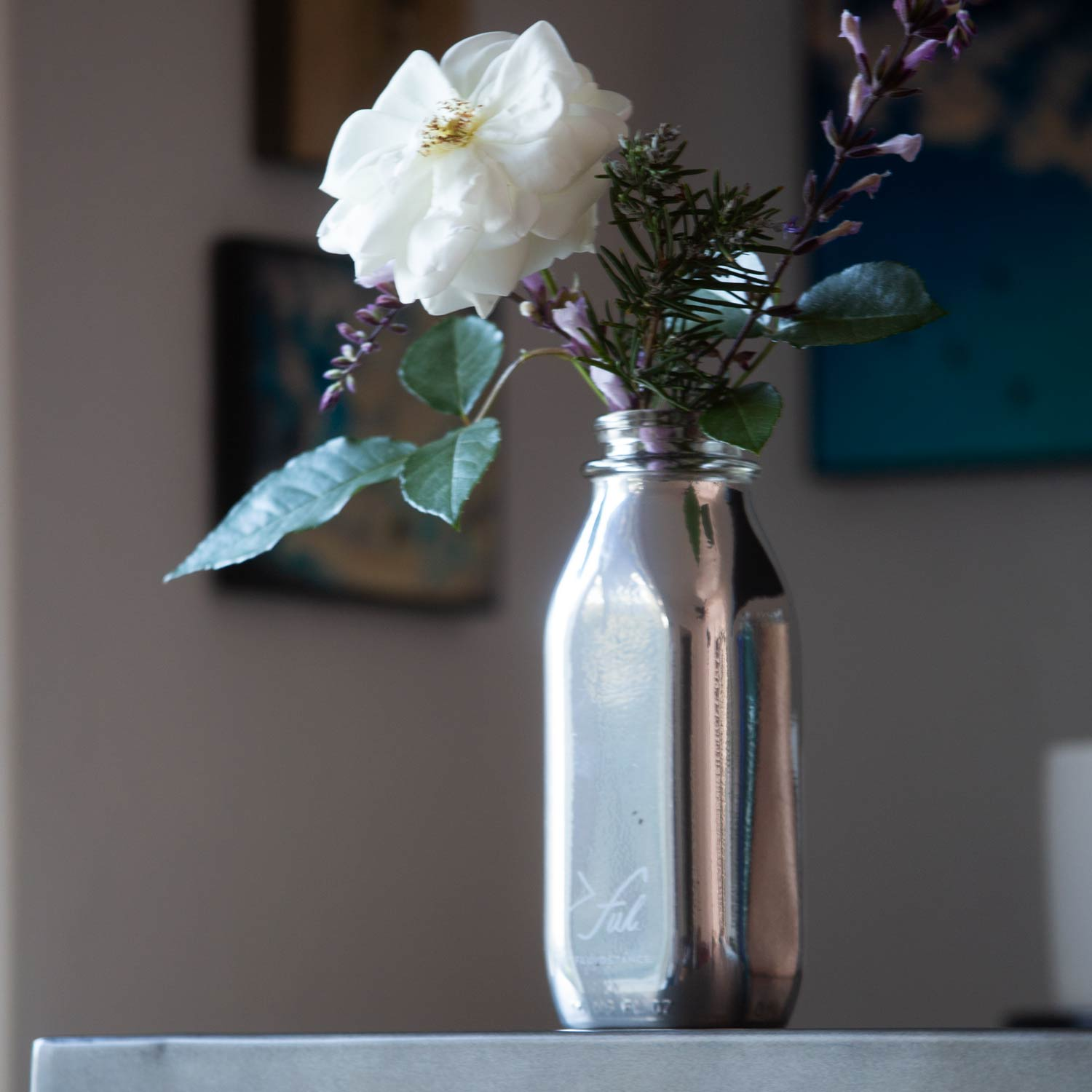 mother's day chrome vase