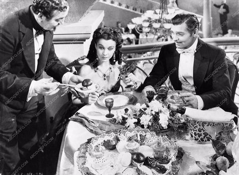 Vivian Leigh Clark Gable dining Gone With the Wind 252-28