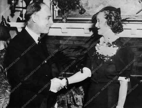 1936 candid photo Bette Davis Boston Mayor Edwin D. Childs 842-18
