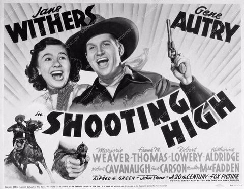 ad slick Gene Autry Jane Withers Shooting High 898-03