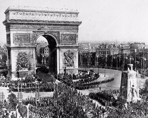 1919 Bastille Day in Paris with the Arch of Triumph featured cool photo 1309-05