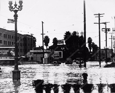 1928 Historic Los Angeles flooded at W.6th st & S. Catalina 1785-13