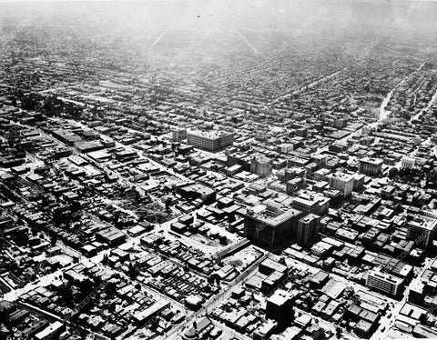 1910 aerial photo Historic Los Angeles downtown 1785-17