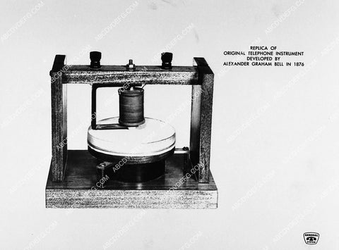 1876 replica of original telephone instrument by Alexander Graham Bell 2373-11