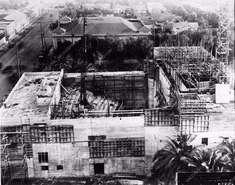 1926 historic Hollywood L.A. Vine St. Theatre under construction 2877-18