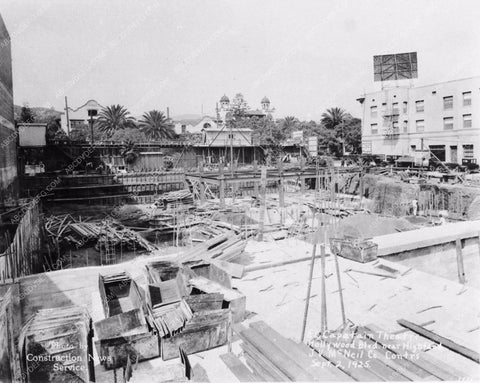 1925 historic Hollywood L.A. El Capitan Theatre under construction 2877-21
