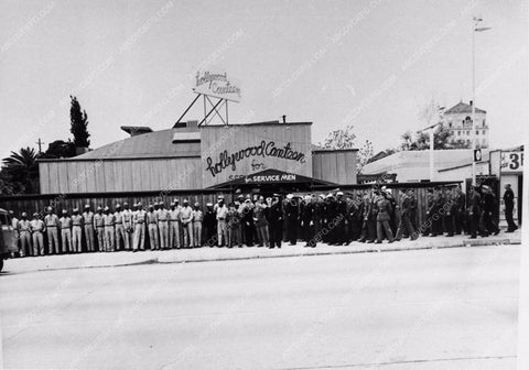 1941 historic Los Angeles Hollywood Canteen actual building 2877-32